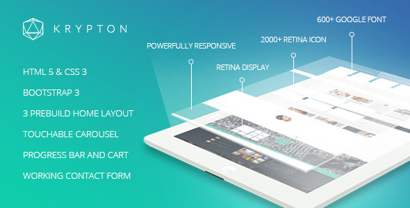 ThemeForest Krypton Responsive Multipurpose Theme 6356359