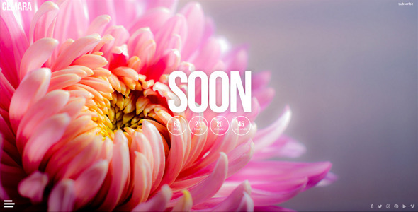 CEMARA Responsive Coming Soon Page (Under Construction) images