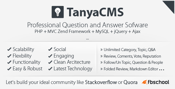 CodeCanyon TanyaCMS Professinal Question and Answer Community 6334343