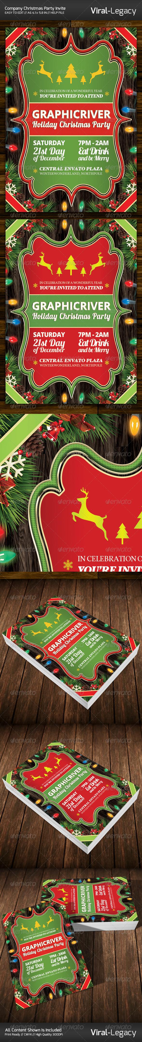 GraphicRiver Christmas Company Party Invitation 6365455
