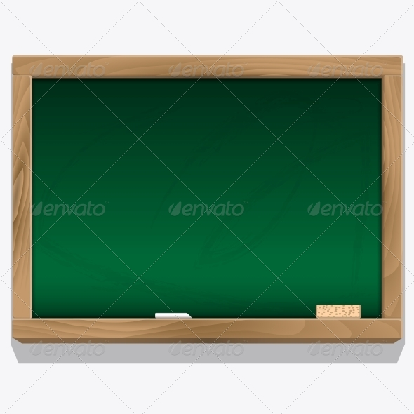 GraphicRiver Class Board with Chalk Vector 6365460