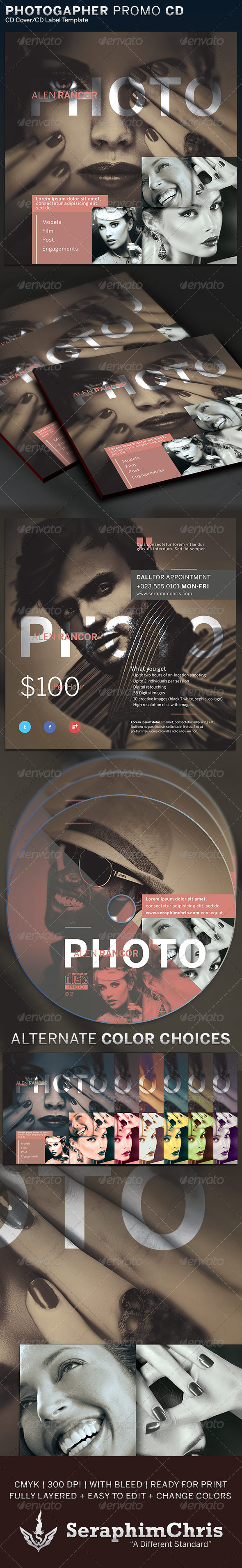 GraphicRiver Photographer Promotional Cover Artwork Template 6365468