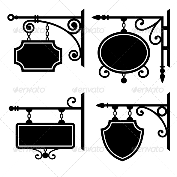GraphicRiver Set of Retro Graphic Forged Signboards 6365471