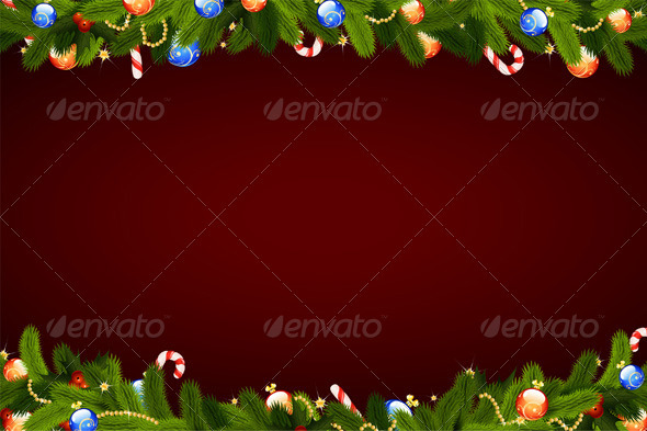 GraphicRiver Christmas Background 663781