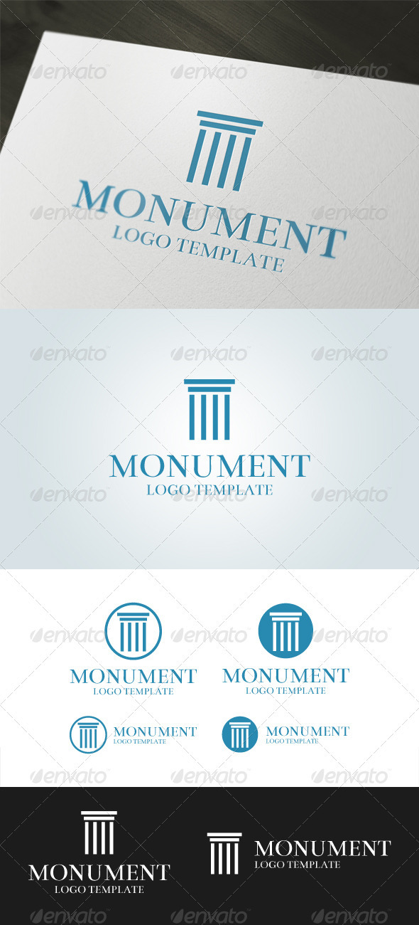 Monument - Buildings Logo Templates
