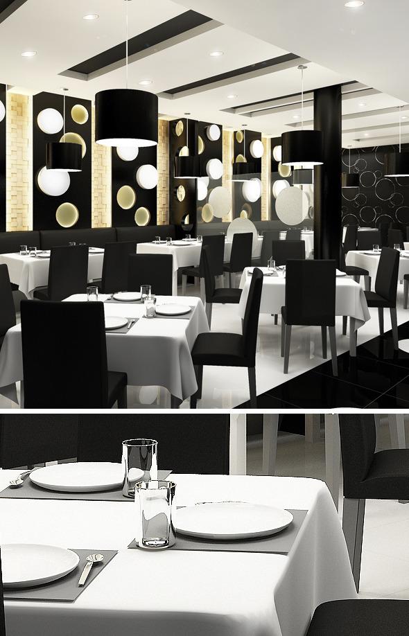 3DOcean Realistic Modern Restaurant 663859