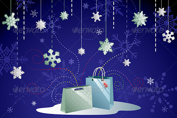 GraphicRiver Winter Shopping Background 6365728