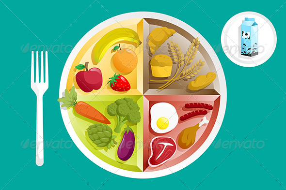 GraphicRiver Food on a Plate 6365732