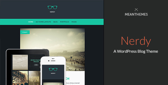 preview nerdy for wp.  large preview Nerdy: A WordPress Blog Theme (Personal)