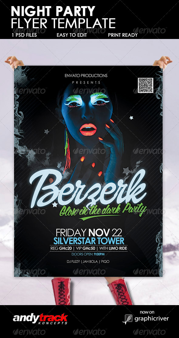 GraphicRiver Night Party Flyer Template 6172771