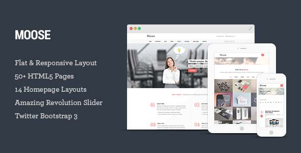 Moose - Multipurpose Responsive HTML5 Template
