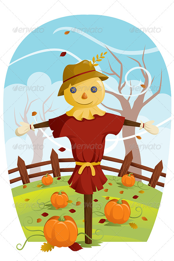 GraphicRiver Scarecrow for Fall Harvest 6365794