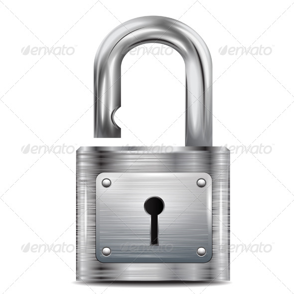 GraphicRiver Icon Open Padlock 6365813