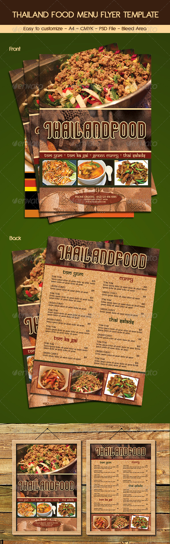GraphicRiver Thailand Food Menu Flyer Template 6365869