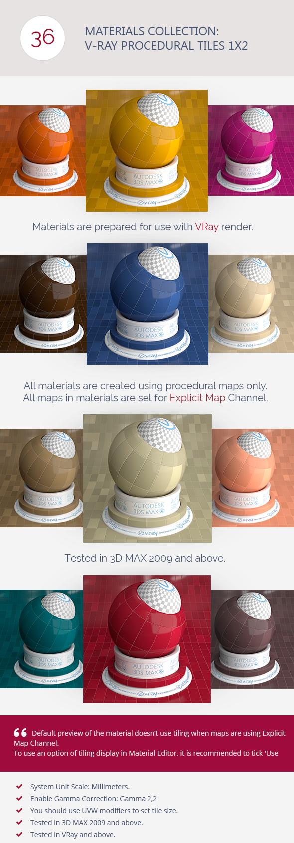 3DOcean V-Ray Procedural Tiles 1x2 6365910