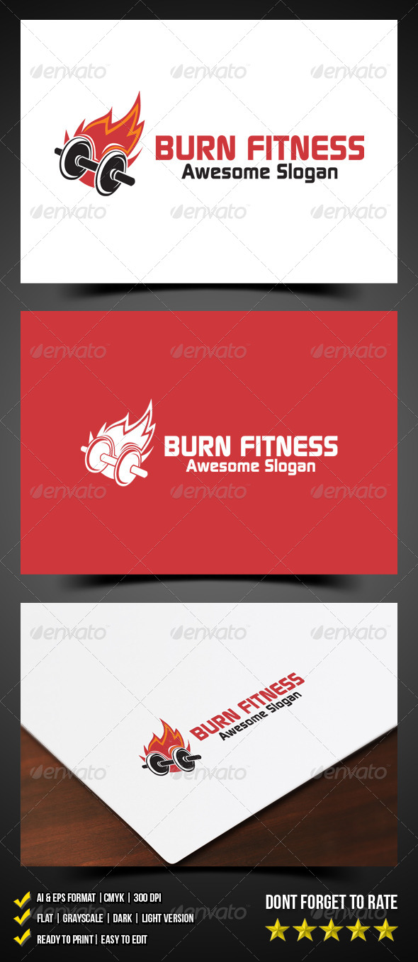 Burn Fitness Logo - Objects Logo Templates