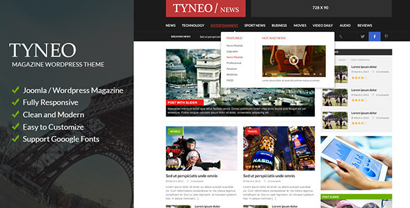 ThemeForest ST Tyneo news magazine joomla 6310184