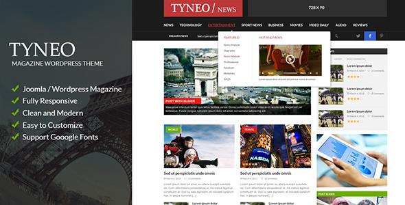ST Tyneo - news, magazine joomla - Blog / Magazine Joomla