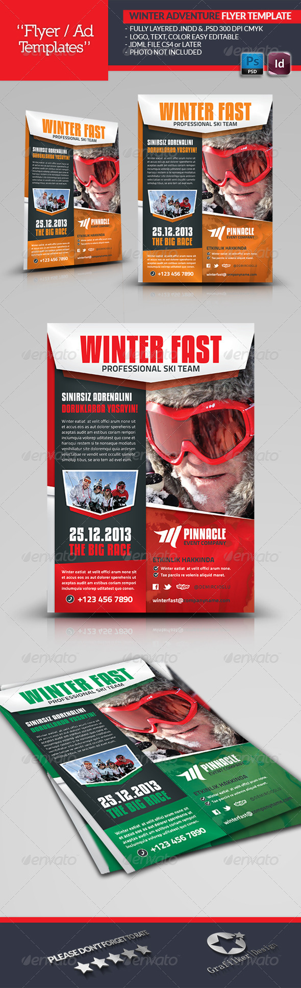GraphicRiver Winter Adventure Flyer Template 6366433