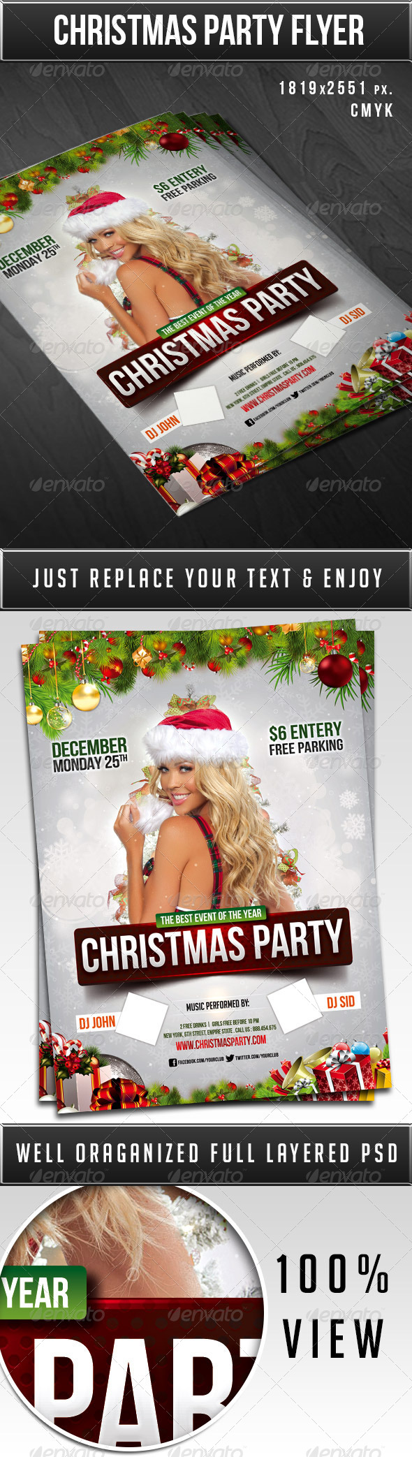 GraphicRiver Christmas party flyer 6366596