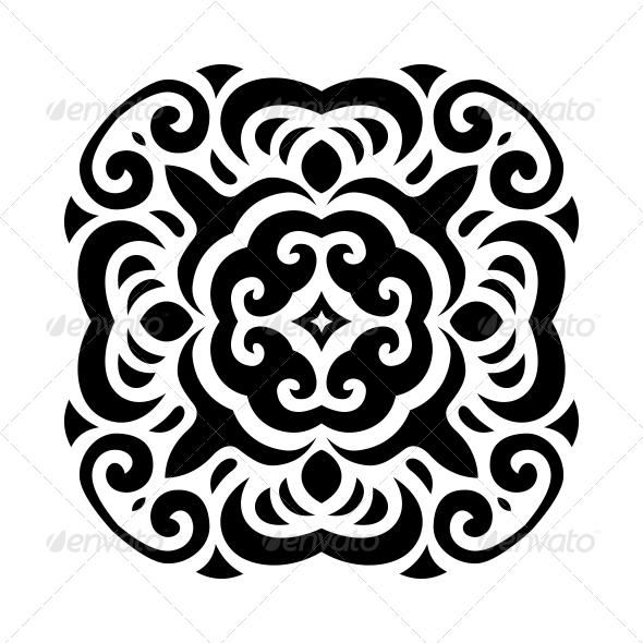 Abstract Vector Mehndi Tattoo Ornament