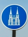 Church Signs in sunny day. - PhotoDune Item for Sale