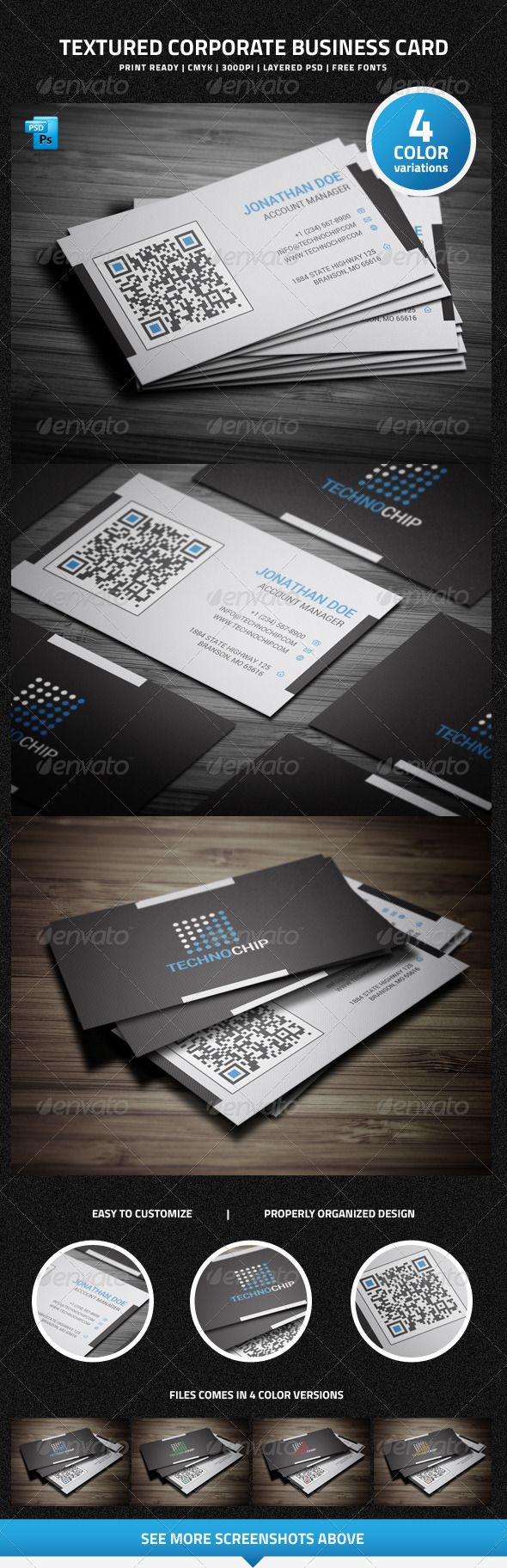 GraphicRiver Textured Corporate Business Card 6366998