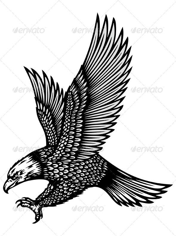 GraphicRiver Eagle Tattoo 6367038