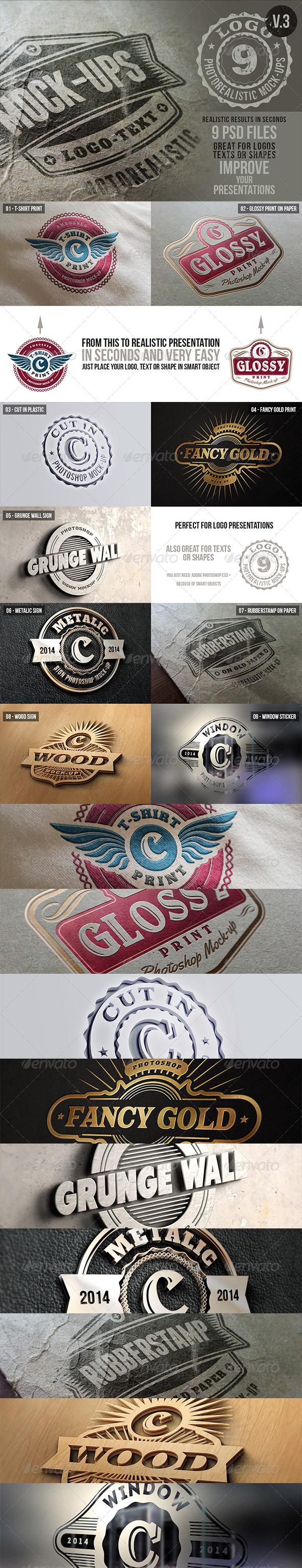 GraphicRiver Photorealistic Logo Mock-Ups Vol.3 6367196