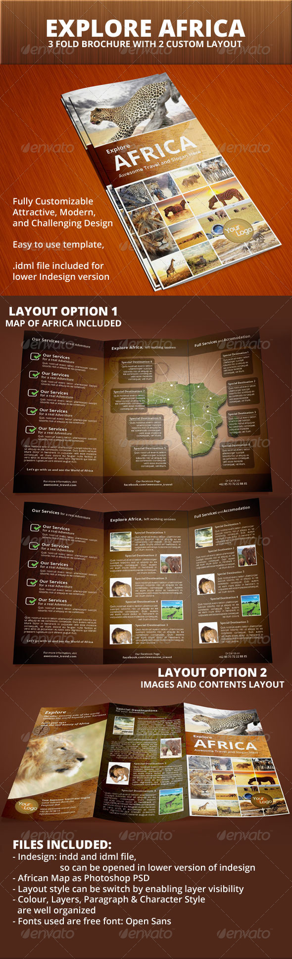 GraphicRiver Explore Africa Trifold Brochure 6280234