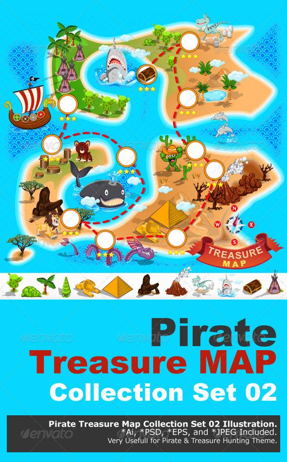 GraphicRiver Pirate Treasure Map 6367295