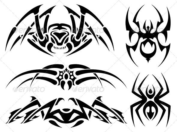 GraphicRiver Spider Tattoos 6367376