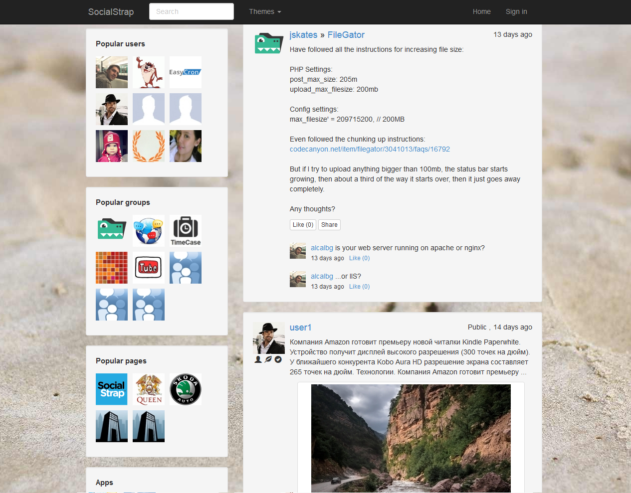 SocialStrap - Social Networking Platform