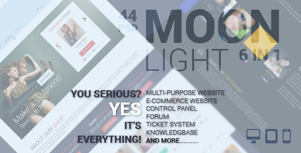 MoonLight Multipurpose/eCommerce PSD Template