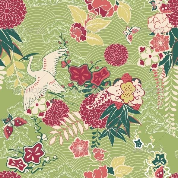 GraphicRiver Oriental Silk Pattern 6367642