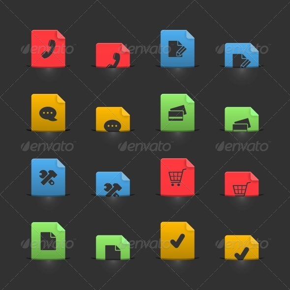 GraphicRiver Online Shopping Iconset on Moving Stubs 6367676