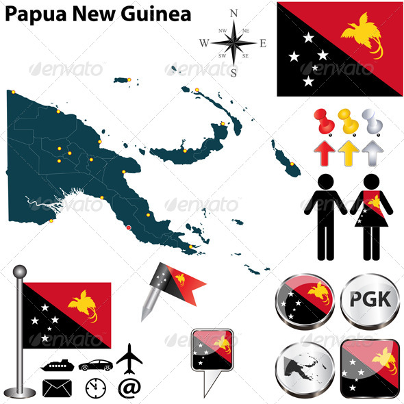 GraphicRiver Map of Papua New Guinea 6367850