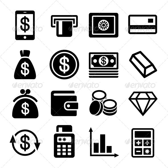 GraphicRiver Money and Bank Icon Set 6367875