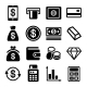 Money and Bank Icon Set - GraphicRiver Item for Sale