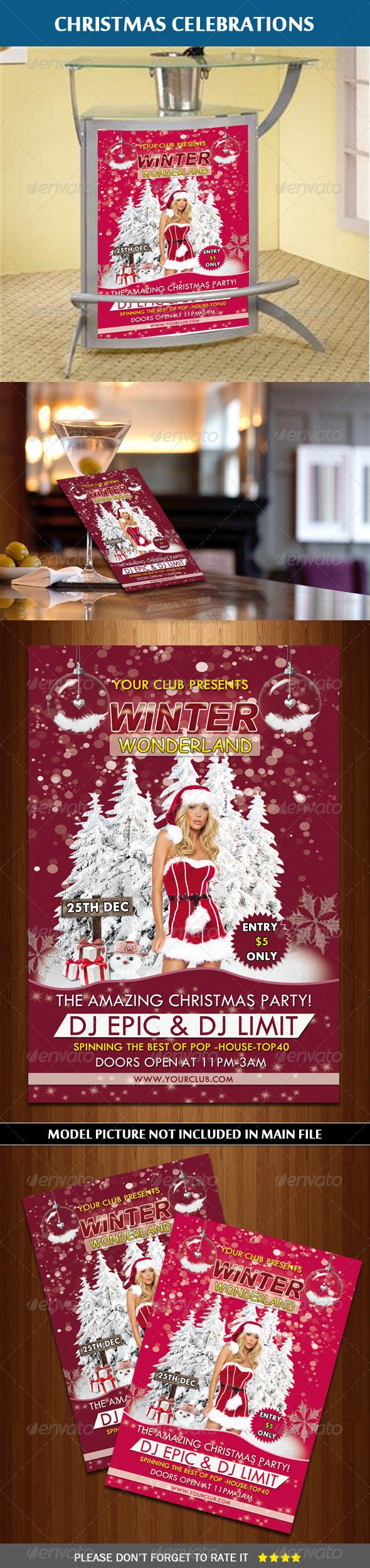 GraphicRiver Winter Wonderland Flyer 6335469