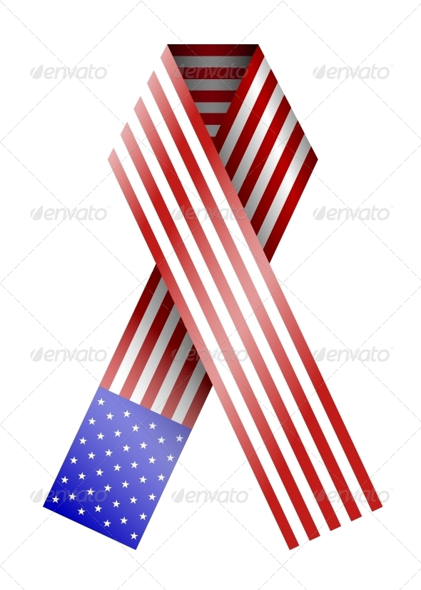 GraphicRiver 4th of July Ribbon 6368305