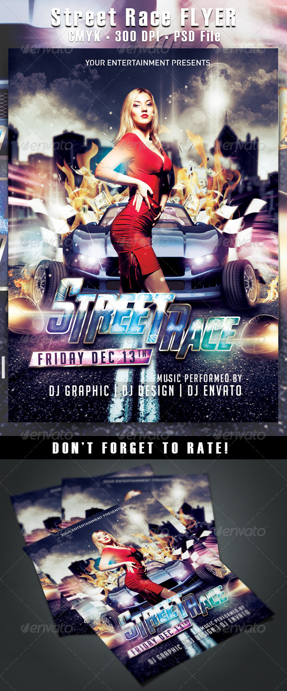 Street Race Flyer - Clubs & Parties Events