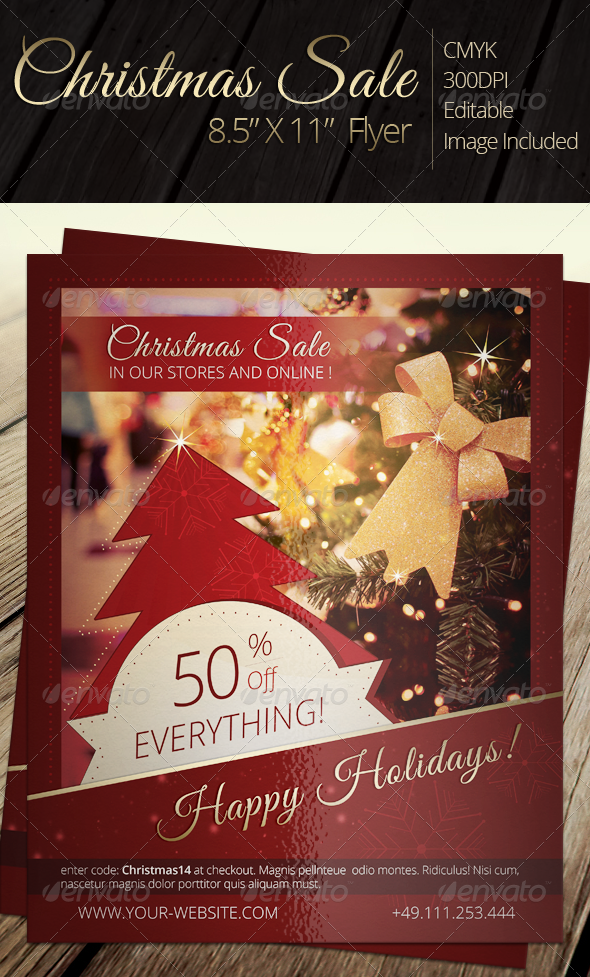 GraphicRiver Christmas Sale Flyer 6368958