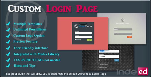 CodeCanyon Indeed Custom Login Page 6368970