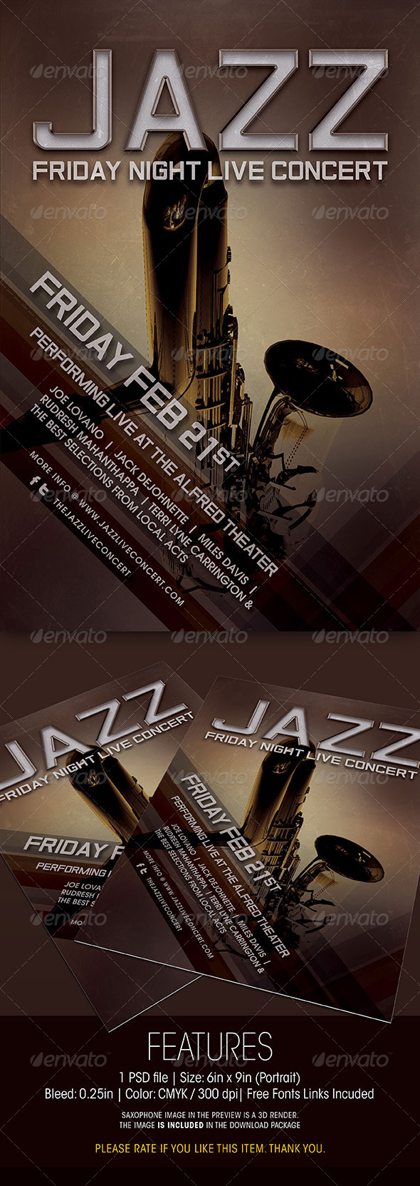 GraphicRiver Jazz Live Concert Flyer 6369016
