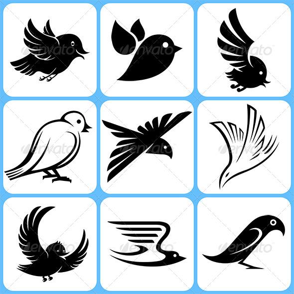 GraphicRiver Bird Icons Set 6369036