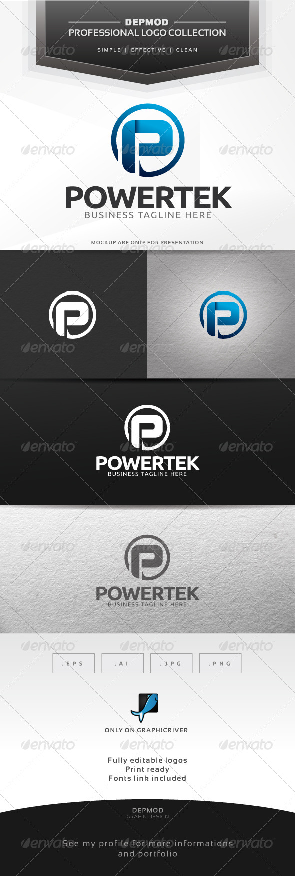 GraphicRiver Powertek Logo 6369077