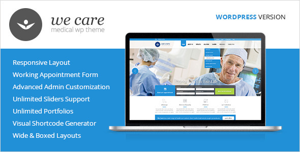 ThemeForest We Care Medical & Health WordPress Theme 6357339