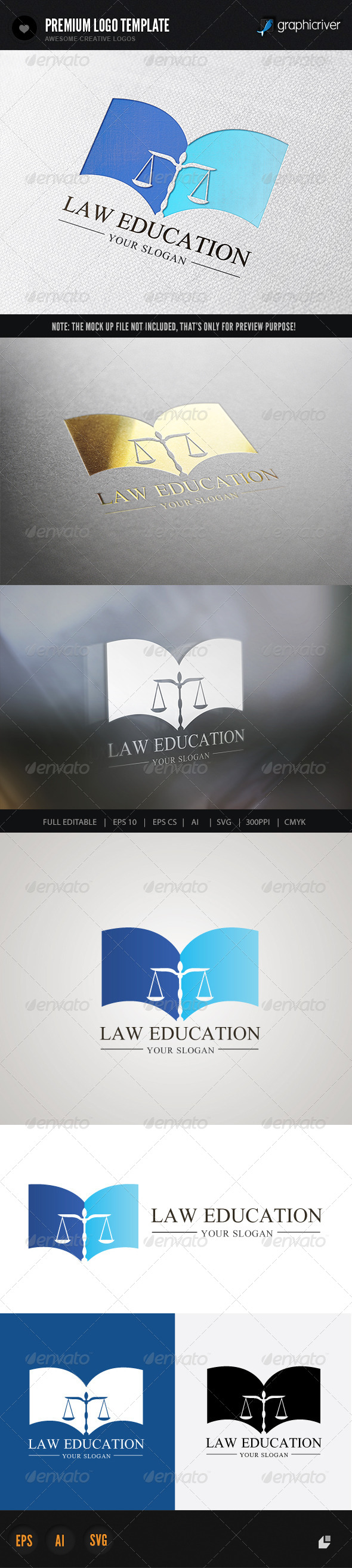 Law Education - Crests Logo Templates