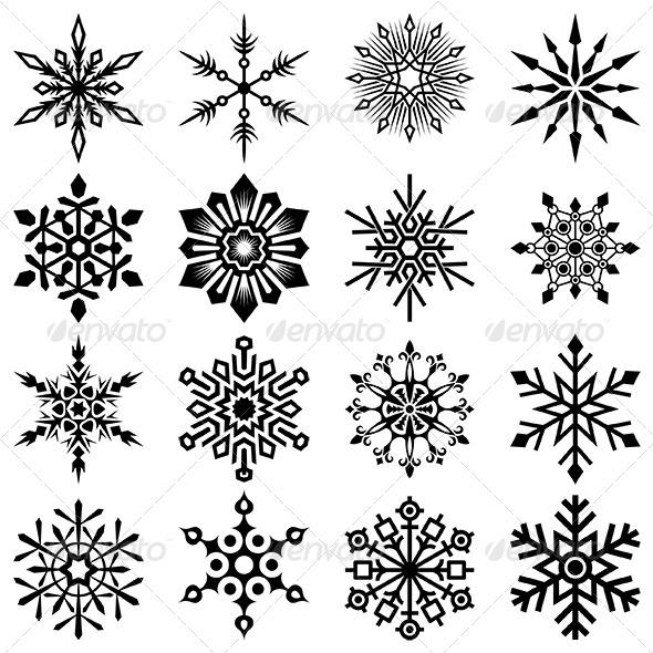 GraphicRiver Snowflakes Vector Set 6369337